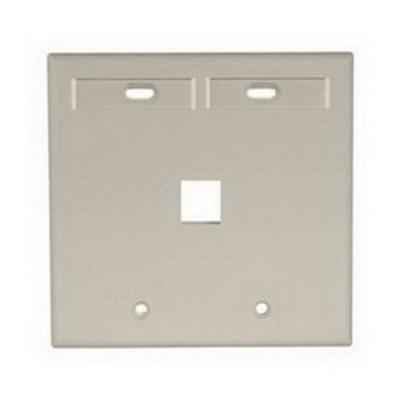 Leviton 42080-1IP Leviton 42080-1IP QuickPort® Wallplate With ID Windows; 2-Gang, 1-Port, Box Mount, Ivory