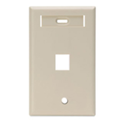 Leviton 42080-1IS Leviton 42080-1IS 1-Gang Standard Wallplate With ID Window; Box/Flush, (1) Port, High Impact Flame Retardant Plastic, Ivory