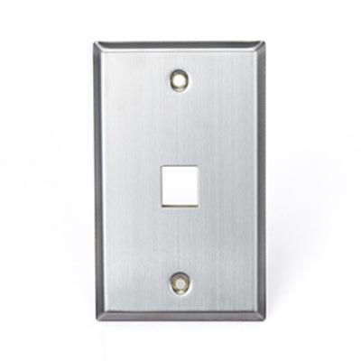Leviton 43080-1S1 Leviton 43080-1S1 1-Gang Standard Wallplate; Box, (1) Port, 304 Stainless Steel