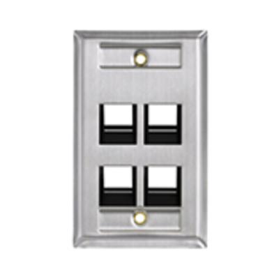 Leviton 43081-1L4 Leviton 43081-1L4 Wp 4 Port Sg Ang Ss