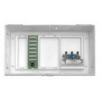 Leviton 47604-F6S Leviton 47604-F6S Structured Media® Compact Multi-Dwelling Unit Enclosure; Surface/Flush Mount, White