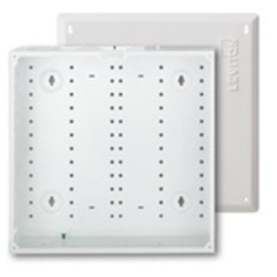Leviton 47605-140 Leviton 47605-140 Structured Media® 140 Series Telecommunication Enclosure With Cover; Flush Mount, White