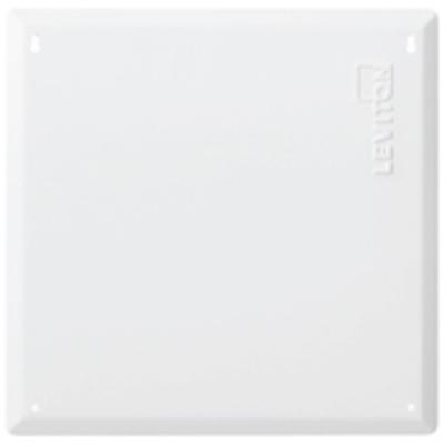 Leviton 47605-14C Leviton 47605-14C Structured Media® 140 Series Center Premium Hinged Cover; Flush Mount, White