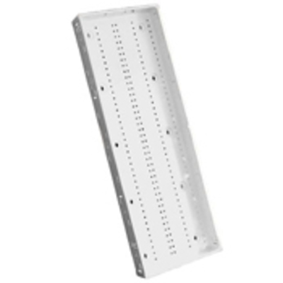 Leviton 47605-M42 Leviton 47605-M42 Structured Media® Enclosure; 3.630 Inch Depth x 42.160 Inch Height, Steel, White, Surface/Flush Mount, Snap-On Cover