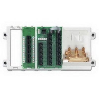 Leviton 47606-AHT Leviton 47606-AHT Category 5e Advanced Home Telephone and Video Panel; 19-Port, White