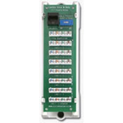 Leviton 47609-TSV Leviton 47609-TSV 1 x 7 Telephone Security Module; White Bracket