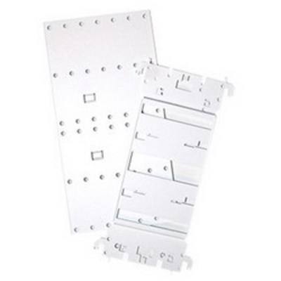 Leviton 47612-CBK Leviton 47612-CBKVelcro® Structured Media® Combo Bracket; 8.410 Inch Length x 4.610 Inch Width x 4.610 Inch Height, 18 Gauge Sheet Metal, Powder-Coated White