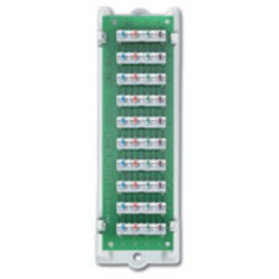Leviton 47689-B Leviton 47689-B 1 x 9 Bridged Telephone Board; White Bracket