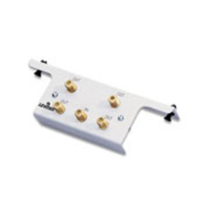 Leviton 47690-4C2 Leviton 47690-4C2 Female 4-Way Passive Video F-Type Splitter Module with Bracket; 2 Giga-Hz, White