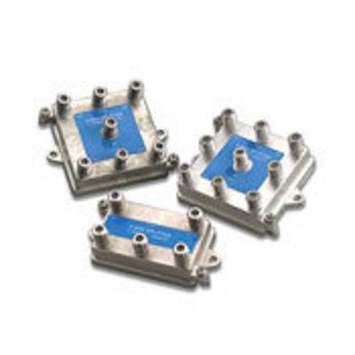 Leviton 47690-4 Leviton 47690-4 4-Way Passive Video F-Type Splitter; 1 Giga-Hz, Silver