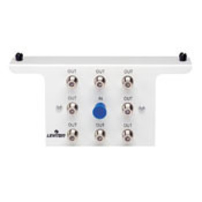 Leviton 47690-8C Leviton 47690-8C Male 8-Way Passive Video Antenna F-Type Splitter Module with Bracket; 1 Giga-Hz, White