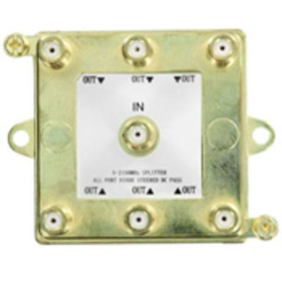 Leviton 47690-G6 Leviton 47690-G6 SMC 6-Way Passive Video Splitter; 2 Giga-Hz