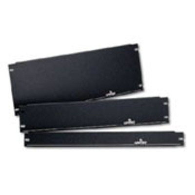Leviton 49254-BP1 Leviton 49254-BP1 1U Blank Panel Insert; Rack Mount, 16 Gauge Steel, Black