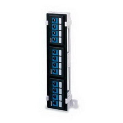 Leviton 49255-Q89 Leviton 49255-Q89 QuickPort® Field-Configurable Patch Block; Wall Mount, 12-Port, Black