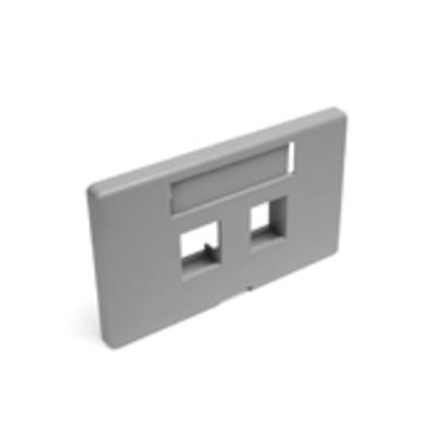 Leviton 49910-HG2 Leviton 49910-HG2 Plate Frn 2 Port Hm Gy