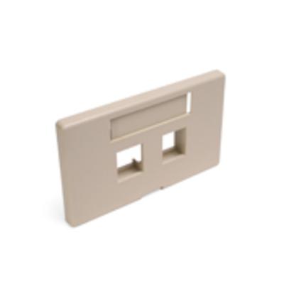 Leviton 49910-HI2 Leviton 49910-HI2 QuickPort® Modular Furniture Faceplate with ID Window; 2-Port, Flush Mount, ABS, Ivory