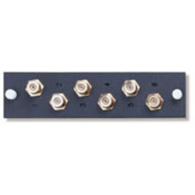 Leviton 5F100-6VF Leviton 5F100-6VF Structured Media® F-Connector Mounting Plate; 2.350 Inch Length x 0.380 Inch Height, Horizontal/Vertical Mount