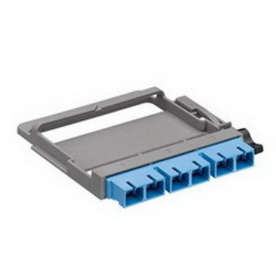 Leviton 5FUHD-6LC Leviton 5FUHD-6LC Opt-X® High Density HDX Fiber Adapter Plate; OS2, 3-Duplex Fiber, 3.750 Inch Width x 0.370 Inch Depth x 4.380 Inch Height, Blue