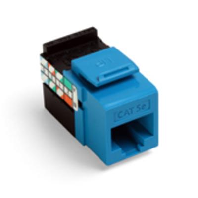 Leviton 5G108-RL5 Leviton 5G108-RL5 GigaMax® QuickPort® Category 5e Modular Jack; Snap-In/Surface/Flush Mount, 8P8C, Blue