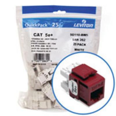 Leviton 5G110-BR5 Leviton 5G110-BR5 JACK CAT 5E RED B