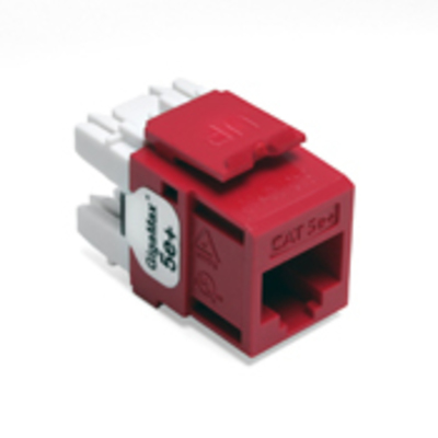 Leviton 5G110-RC5 Leviton 5G110-RC5 GigaMax® QuickPort® Category 5e+ Modular Connector; Snap-In/Surface/Flush Mount, 8P8C, Crimson Red
