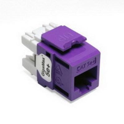 Leviton 5G110-RP5 Leviton 5G110-RP5 QuickPort® GigaMax® CAT 5e+ Component-Rated UTP Connector; 8P8C, Purple