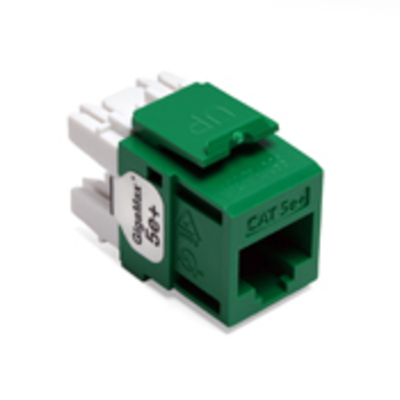 Leviton 5G110-RV5 Leviton 5G110-RV5 QuickPort® GigaMax® Category 5e UTP Jack Connector; Mated (8P8C) Front x 110 IDC, Green