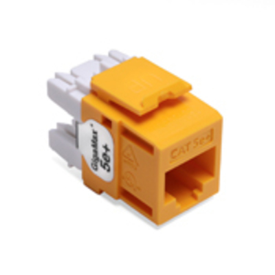 Leviton 5G110-RY5 Leviton 5G110-RY5 QuickPort® GigaMax® CAT 5e+ Component-Rated UTP Connector; 8P8C, Yellow