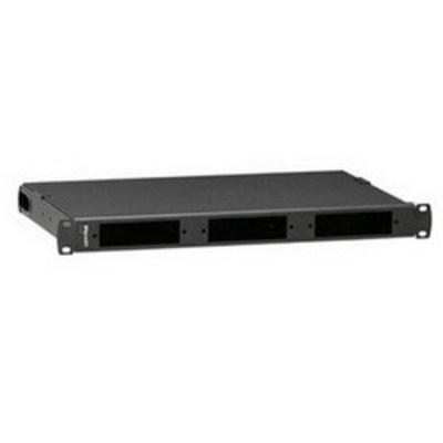 Leviton 5R1UL-F03 Leviton 5R1UL-F03 Opt-X® 1000 Distribution and Splice Enclosure; Flush Mount, 1-Rack Unit, Black