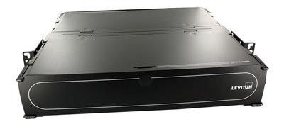 Leviton 5R2UM-F06 Leviton 5R2UM-F06 OPT-X® Ultra Distribution and Splice Enclosure; Rack Mount, 6-Port2-Rack Unit, Black