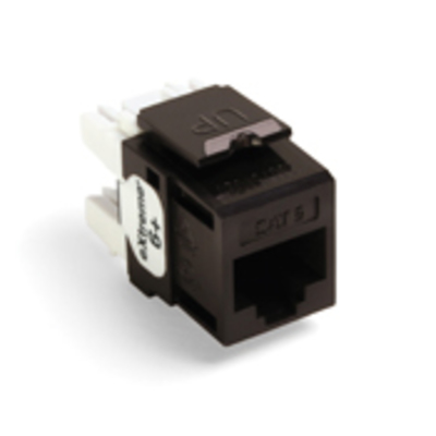 Leviton 61110-RB6 Leviton 61110-RB6 eXtreme® QuickPort® Category 6 Modular Connector; Snap-In/Panel/Wall Plate Mount, 8P8C, Brown