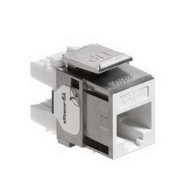 Leviton 6A10G-RW6 Leviton 6A10G-RW6 eXtreme® QuickPort® Component-Rated Category 6A Connector; Snap-In Mount, 8P8C, White