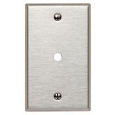 Leviton 84013 Leviton 84013 Standard Size 1-Gang Wallplate; Box Mount, 430 Stainless Steel