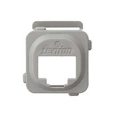 Leviton AB200-G Leviton AB200-G Adapter Bezel; 1-Port, ABS Plastic, Gray, Box Mount