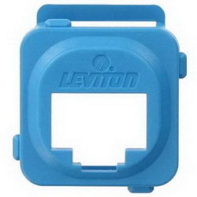 Leviton AB200-L Leviton AB200-L Adapter Bezel; 1-Port, ABS Plastic, Blue, Box Mount