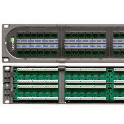 Leviton C1686-U48 Leviton C1686-U48 eXtreme® C1 110-Punchdown Category 6+ Patch Panel; 48-Port, 2-Rack Unit