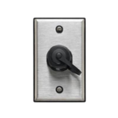 Leviton D670K-1S1 Leviton D670K-1S1 DuraPort® 1-Gang Industrial Outlet Kit; 1-port, 302 Stainless Steel Wallplate, Polybutylene Terephthalate Connector, Screw Mount