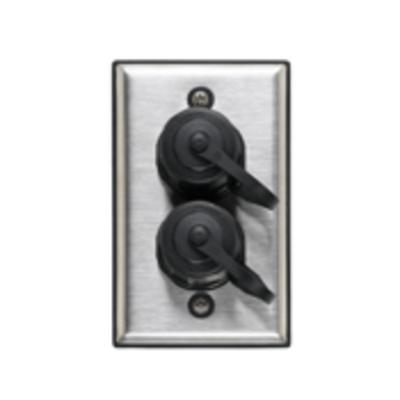 Leviton D670K-1S2 Leviton D670K-1S2 DuraPort® 1-Gang Industrial Outlet Kit; 2-port, 302 Stainless Steel Wallplate, Polybutylene Terephthalate Connector, Screw Mount