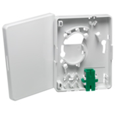 Leviton FTH00-W Leviton FTH00-W Structured Media® Fiber-to-the-Home Point Of Entry Box; 3.150 Inch Width x 0.840 Inch Depth x 3.940 Inch Height, ABS, White