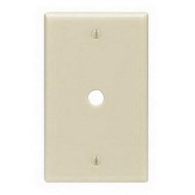 Leviton PJ11-I Leviton PJ11-I Midway Size 1-Gang Wallplate; Strap Mount, Thermoplastic Nylon, Ivory