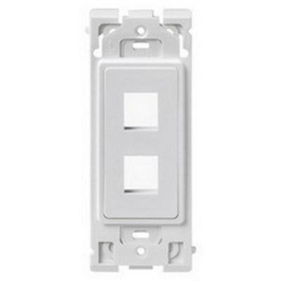 Leviton RE640-WW2 Leviton RE640-WW2 Renu® QuickPort® Insert; 2-Port, Polycarbonate, White On White