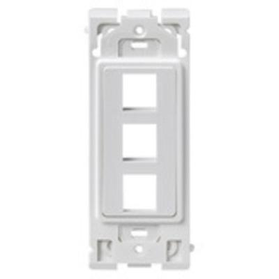 Leviton RE640-WW3 Leviton RE640-WW3 Renu® QuickPort® Insert; 3-Port, Polycarbonate, White