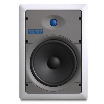 Leviton SGI80-W Leviton SGI80-W Spec-Grade Sound™ Indoor and Outdoor Loudspeaker; 8 Inch Kevlar Composite Cone Woofer, 2-Way, 86.5 dB Sensitivity