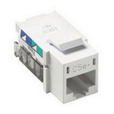 Lutron CON-1P-C5E-WH Lutron CON-1P-C5E-WH Category 5e RJ45 Telephone Jack; Wall Mount, 8C, White