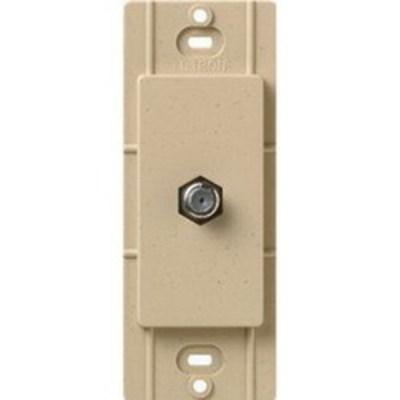 Lutron SC-CJ-DS Lutron SC-CJ-DS Coaxial Cable Modular Jack; Wall Box Mount, Desert Stone