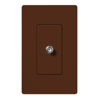 Lutron SC-CJ-SI Lutron SC-CJ-SI Designer Products Single Cable Jack; (1) F-Style Cable Jack, Wallbox Mount, Plastic, Sienna