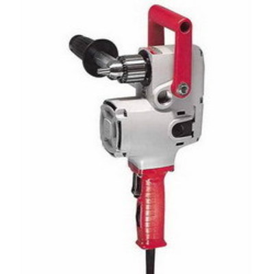 Milwaukee Electric Tools 1676-6 Milwaukee Tools 1676-6 Hole-Hawg® Right Angle Drill Kit; 120 Volt AC, 7.5 Amp, 1/2 Inch Keyed Chuck, 8 ft Fixed Cord, 300/1200 RPM, 6-1/2 Inch Length, Grounded