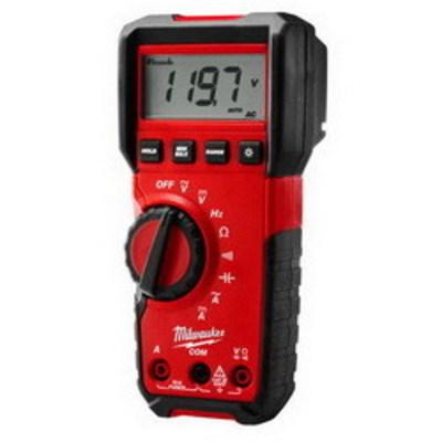 Milwaukee Electric Tools 2216-20 Milwaukee Tools 2216-20 Dial Switch Digital Multimeter; 6.00 Micro-Volt AC - 600 Volt AC, 600.0 Micro-Volt DC - 600 Volt DC, 10 Amp