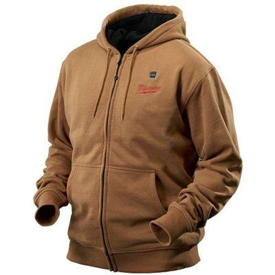 Milwaukee Electric Tools 2375-XL Milwaukee Tool 2375-XL M12 Lithium-Ion Cordless Khaki Heated Hoodie Kit; X-Large
