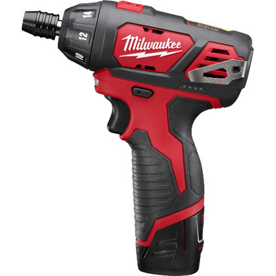 Milwaukee Electric Tools 2401-22 Milwaukee Tools 2401-22 M12™ Cordless Hex Screwdriver Kit; 12 Volt, 175 Inch-lb, 1/2 Inch Steel, 1/4 Inch Wood, 1/4 Inch Chuck, 7 Inch Length